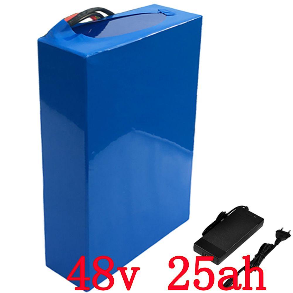 UNS EU KEINE Steuer 48 v batterie 48 v 25AH Lithium-Akku 48 v 25AH 2000 watt elektrische fahrrad batterie Gebaut in 50A BMS + 54,6 v 5 Acharger