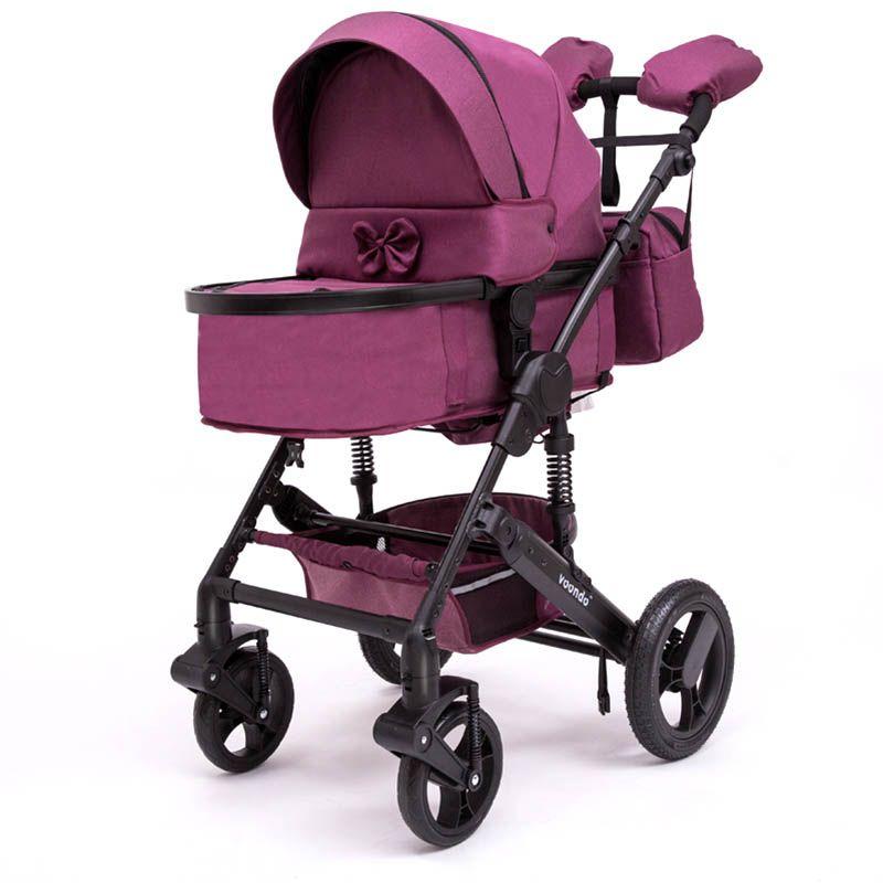 Voondo baby trolley bidirektionale hohe-view stoßdämpfer kinderwagen können in den warenkorb