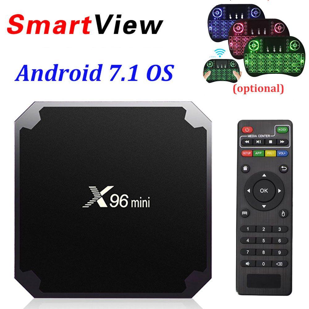 X96 mini Android 7.1 Smart TV BOX 2GB/16GB TVBOX X 96 mini Amlogic S905W H.265 4K 2.4GHz WiFi Media Player Set Top Box X96mini