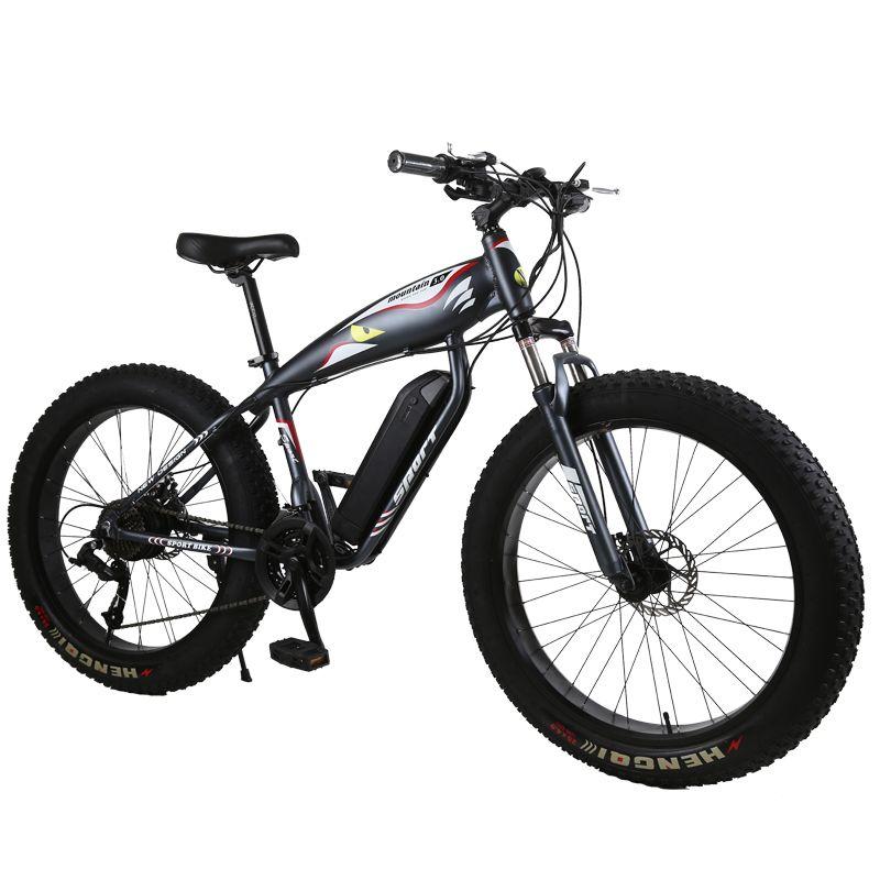custom MTB 26inch electric snow bicycle Beach electric bike 48V 1000w powerful motor Fat tires off-road electric mountain ebike