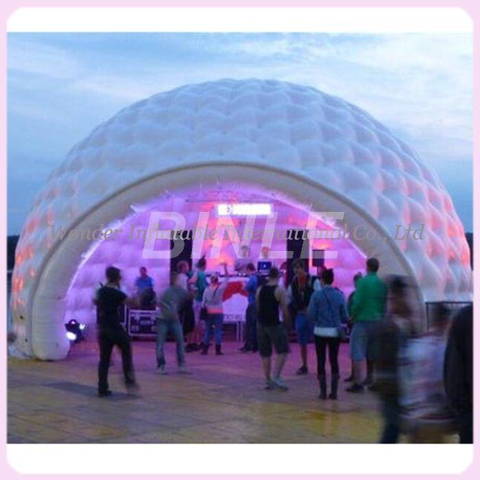 26'x16' im freien wasserdichte riesen party aufblasbare kuppel zelt mit led-leuchten große aufblasbare iglu-zelt für vermietung verkauf