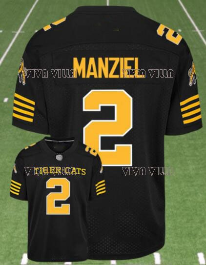 Hamilton Tiger Cats Jersey 2 Johnny Manziel Custom Any Name Any Number Stitched American Football Jersey S-4XL Free Shipping
