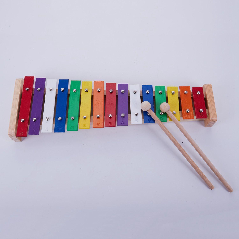 15-Примечание деревянные музыкальные игрушки учебные пособия ребенок рано Educationa Ксилофоны Алюминий плиты фортепиано перкуссия