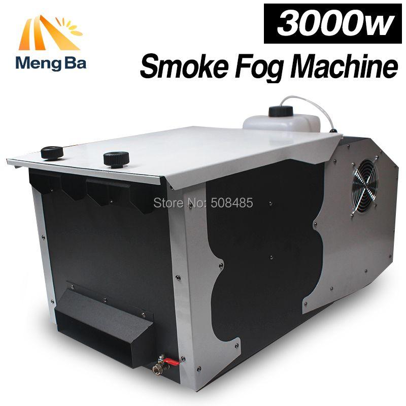 New 3000W Low Lying Ground Smoke Fog Machine Remote Control
