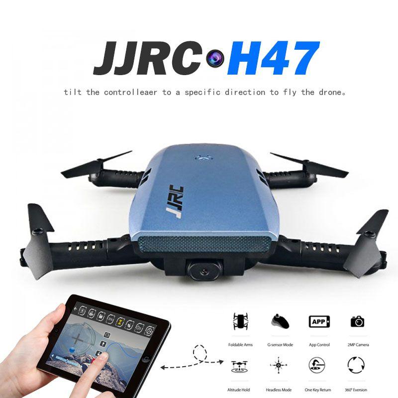 Newest JJRC H47 ELFIE 720P HD FPV Wifi Camera Rc Quadcoper Foldable Arm Selfie Drone Gravity Sensing Control VS Eachine E56 Dron