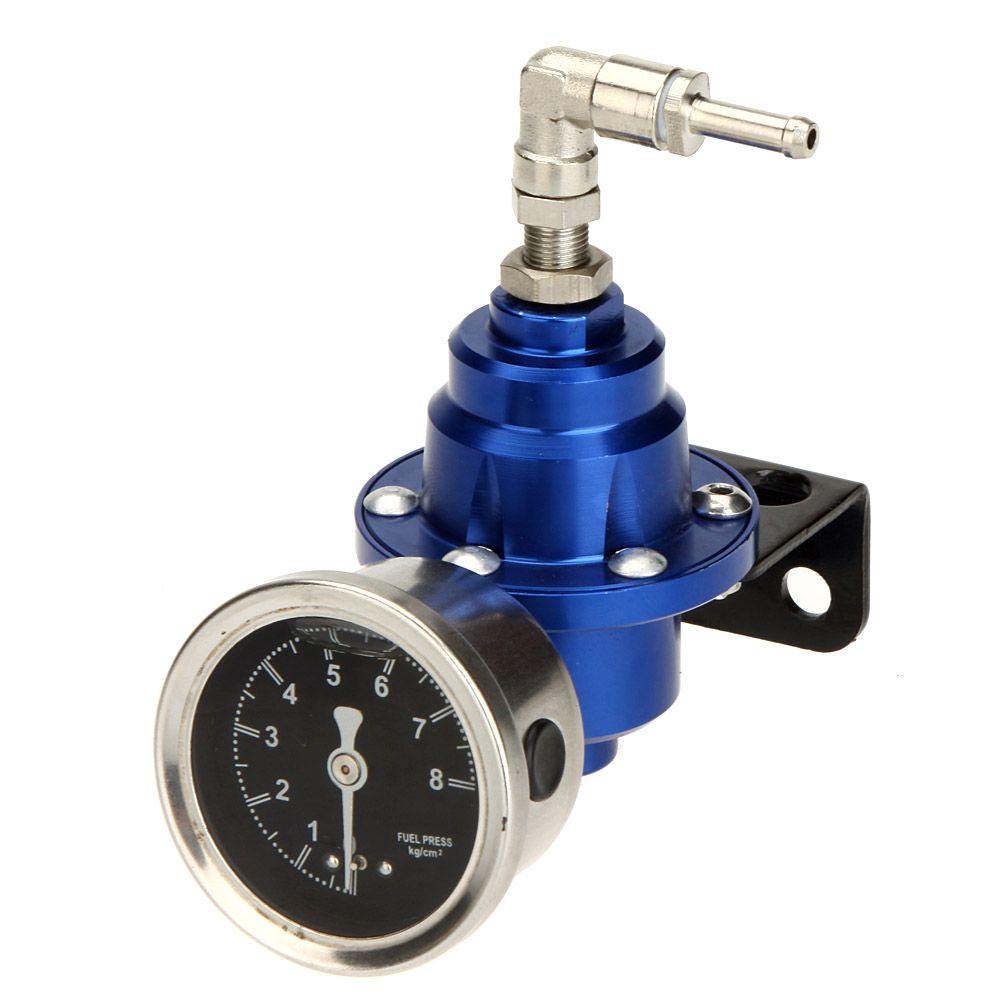 TOMEI Adjustable Blue Titanium Car Style Auto Fuel Pressure Regulator 200-800KPa Original Oil Gauge for Cars