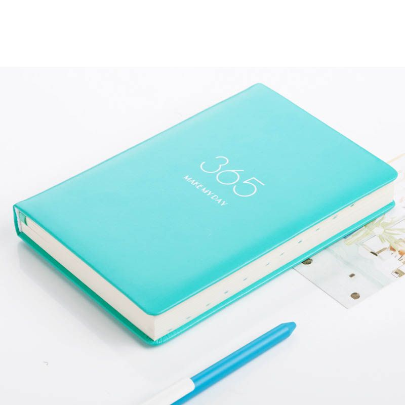 A5 Notebook 365 Days 2018/2019 Agenda Planner Organizer Dividers PU Leather Weekly Month Personal Travel Diary Journal Note Book