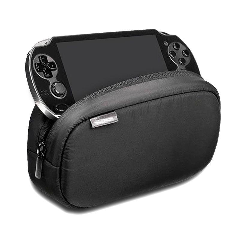 1 pièces nouveau noir grande capacité souple voyage étui de protection pochette sac pour Playstation PS VITA 1000 2000