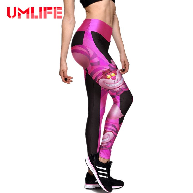 UMLIFE Women Running Tights Sport Yoga Leggings Pants Fitness Clothes Gym Jogging Sports High Waist Workout Sportswear Plus Size