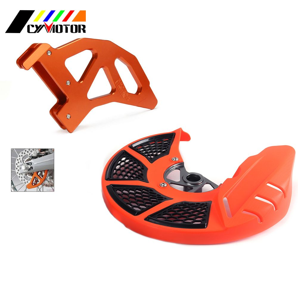 Orange Blue Front Rear Brake Disc Rotor Guard Cover For KTM Husqvarna SX EXC SX-F XC XC-F 125 144 150 200 250 350 500 505 525