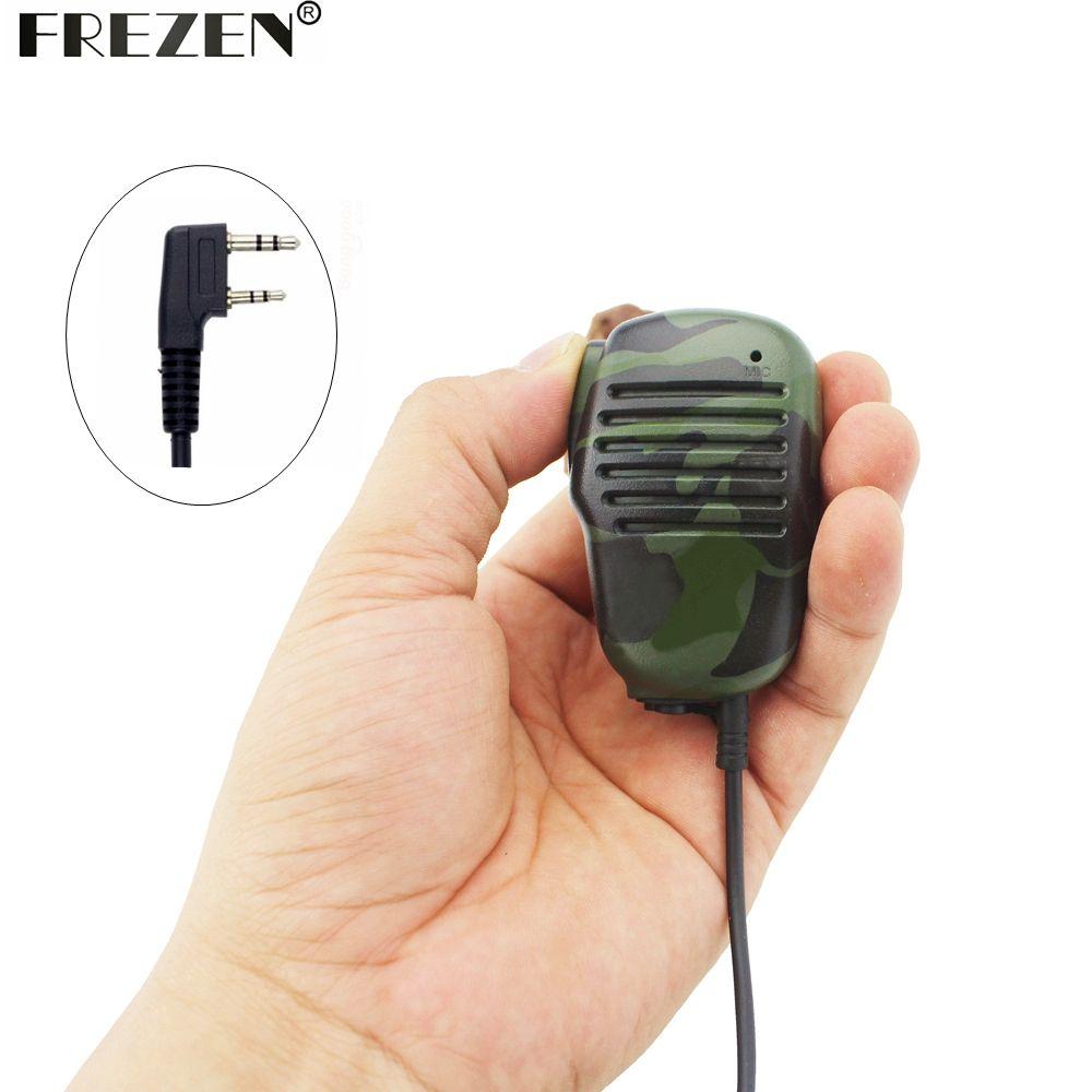 Camouflage Microphone Mini Speaker Mic K25  For Two Way Radio Kenwood BAOFENG UV-5R 5RA 5RE Plus Walkie Talkie