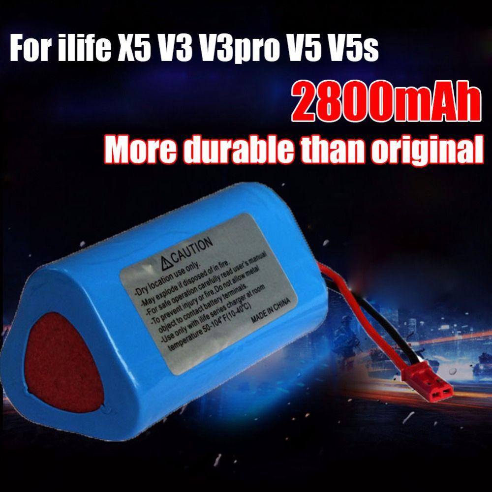 Bonne qualité robot nettoyeur Batterie 11.1 v 2800 mah remplacement pièces pour ecovacs ilife V1 V3 X3 V3 V5 X5 v5S CW310 CEN250