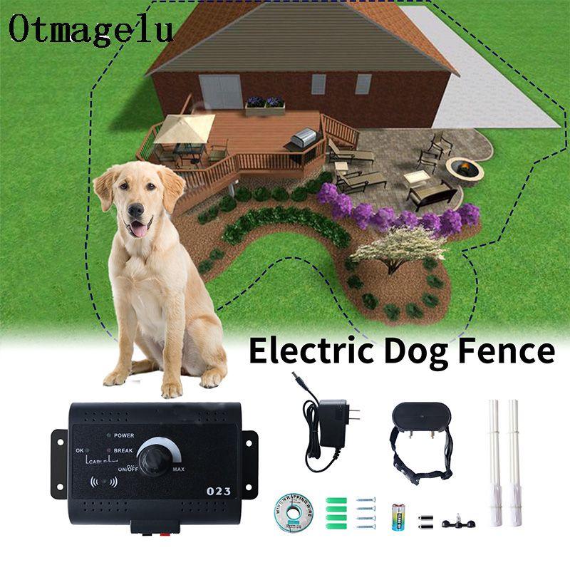 023 sicherheit Haustier Hund Elektrische Zaun Mit Wasserdicht Hund Elektronische Ausbildung Kragen Unsichtbare Elektrische Hund Zaun Containment System