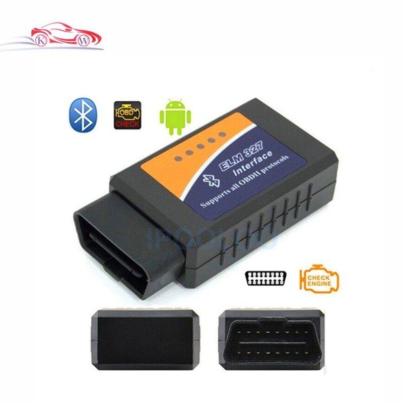 Hotsale ELM 327 Bluetooth V2.1 OBD II ODB2 Scanner d'interface de Diagnostic de voiture fonctionne sur couple Android