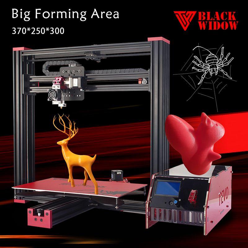 Full Aluminum CNC Frame TEVO Black Widow Cheap 3D Printer Kits with Better Performance MKS Gen V1.4 Main Board