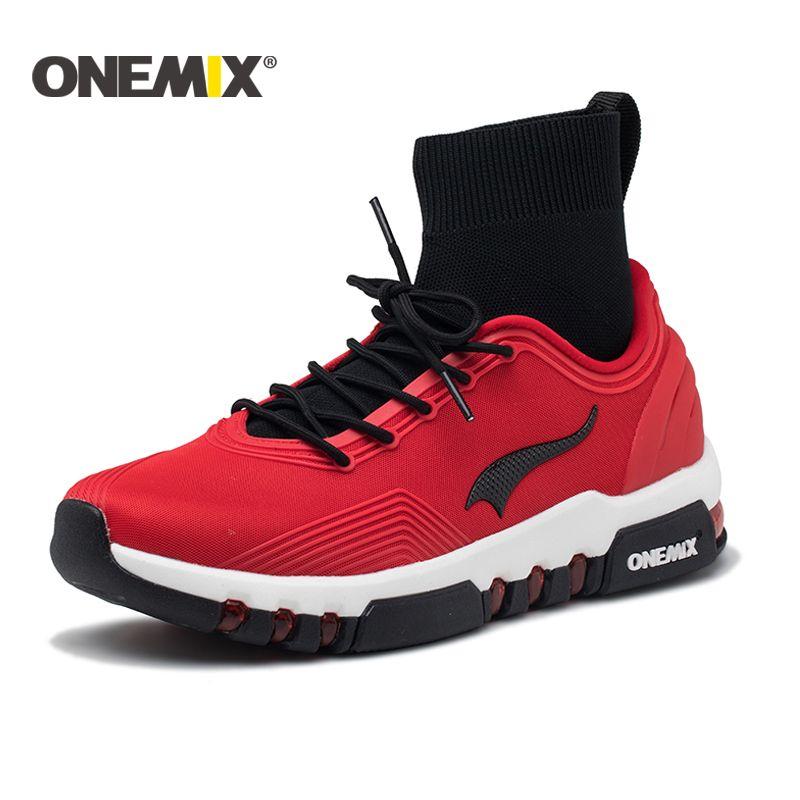 Onemix running shoes for men high top sneakers Couple outdoor walking boots Multifunction trekking sneaker women Free shipping