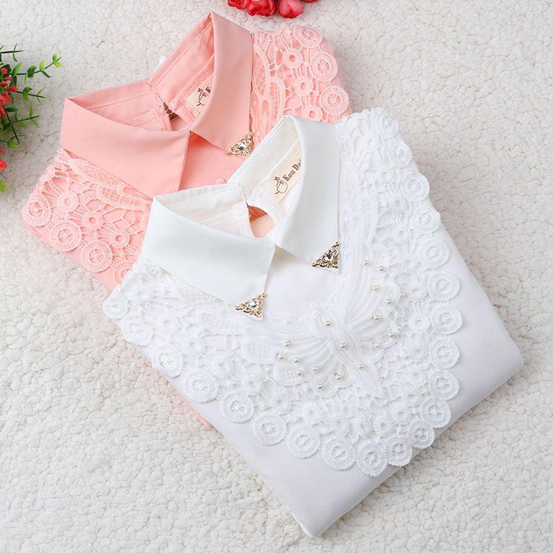 Filles Blouse 2019 automne bébé fille vêtements enfants vêtements école fille Blouse coton enfant chemise Blusas enfants vêtements 3-12 ans