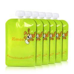 8 pcs/lot Réutilisable Sachet Alimentaire Bébé Sachets Alimentaires facile propre alimentaire sac Double Zipper Organique Bébé Enfants Alimentaire Poche Topper organisateur