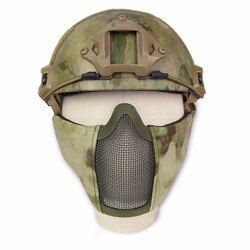 New Tactical Hunting Steel Wire Half Mask Outdoor Bicycle Riding Outdoor Field CS Mesh Airsoft Mask Resistant