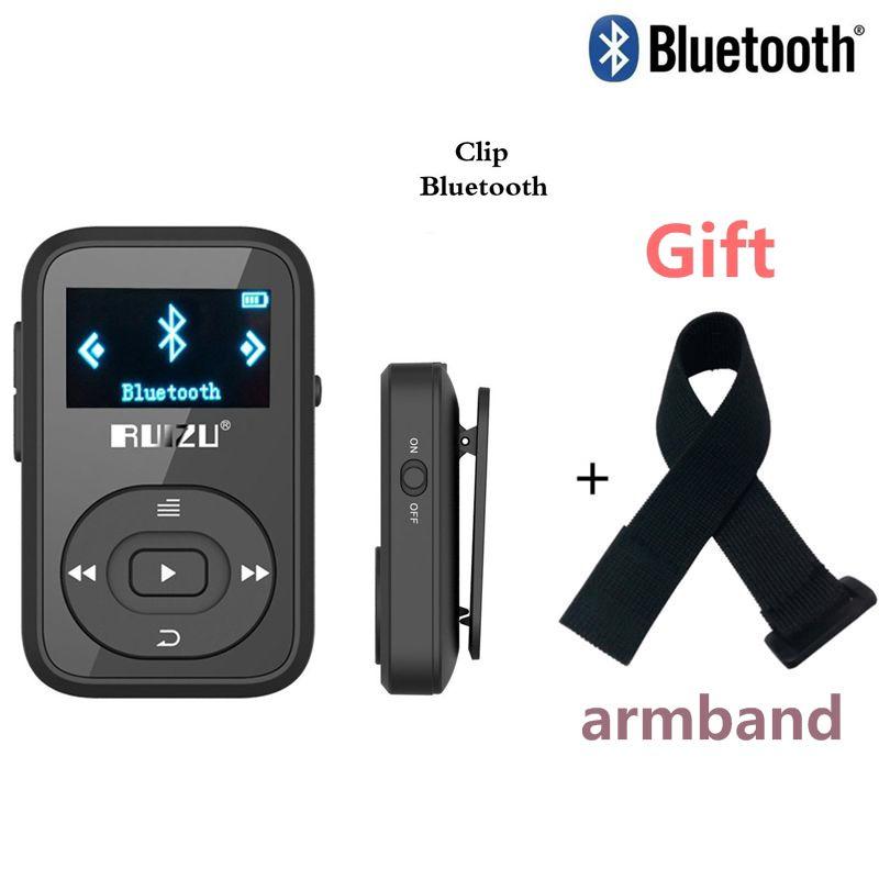 Mini Original RUIZU X26 <font><b>Clip</b></font> Bluetooth MP3 player 8GB Sport mp3 music player Recorder FM Radio Support TF Card +Free Armband