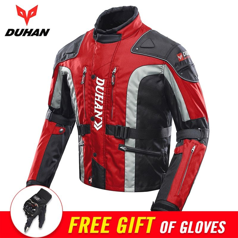 DUHAN Autumn Winter Motorcycle Jacket Men Motocross Equipment Cotton Lined Cold-proof Motorbike Moto Jacket Protective Gear