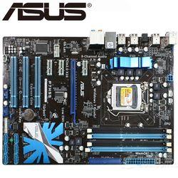ASUS p7h55 рабочего Материнская плата H55 разъем LGA 1156 i3 i5 i7 DDR3 16G ATX UEFI BIOS Оригинальный используется плата распродажа