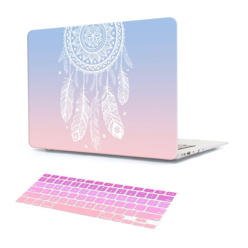 En plastique Dur Cas avec Couvercle Du Clavier pour MacBook Air 13 11 Pro 13 15 Retina Display & Tactile Bar Nouveau 12 13 pouces Dream Catcher
