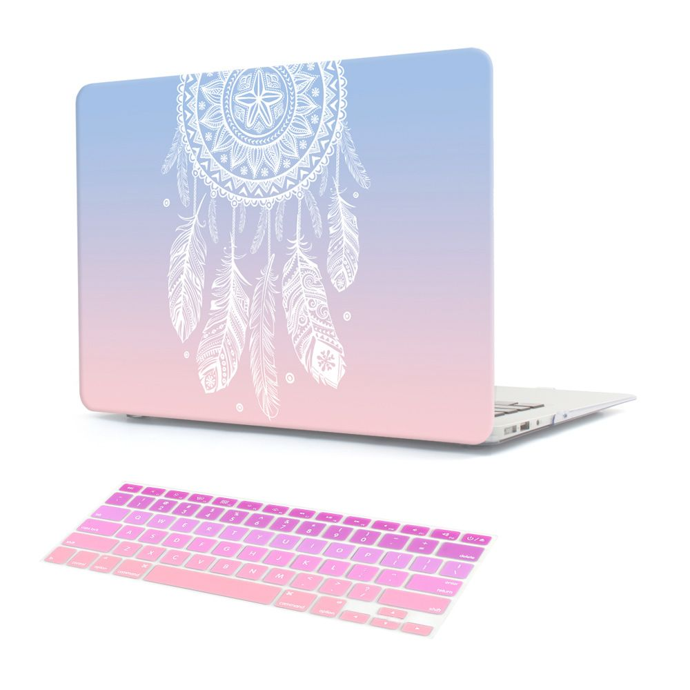 Plastic Hard Case with Keyboard Cover for MacBook Air 13 11 Pro 13 15 Retina Display & Touch Bar New 12 Inch Dream <font><b>Catcher</b></font>