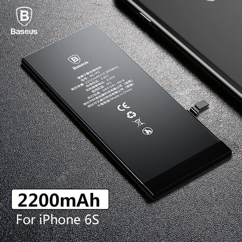 Baseus Original Phone Battery For iPhone 6S 2200mAh High Capacity Replacement Batteries For iPhone 6S with Free Repair Tools