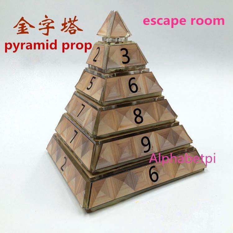 Echt leben room escape zimmer requisiten pyramide für Ägyptischen pharaos thema drahtlose pyramide fertig produkt organe Abenteuer spiel