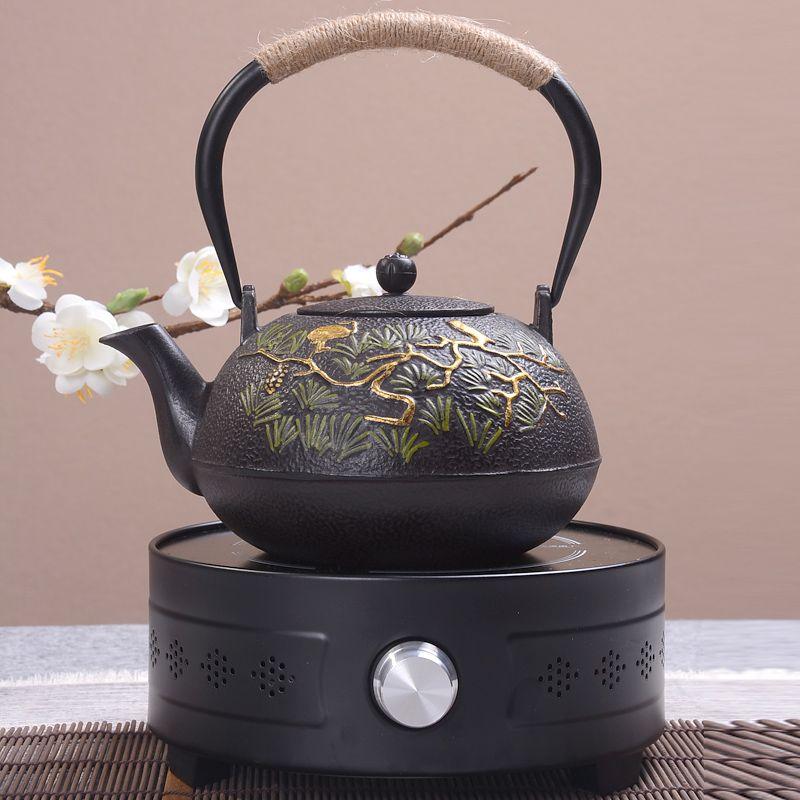 1.2Lnature handmade yixing BPA free samovar cast iron teapot glass ceramic enameled teapot from clay enameled kettle puer tea
