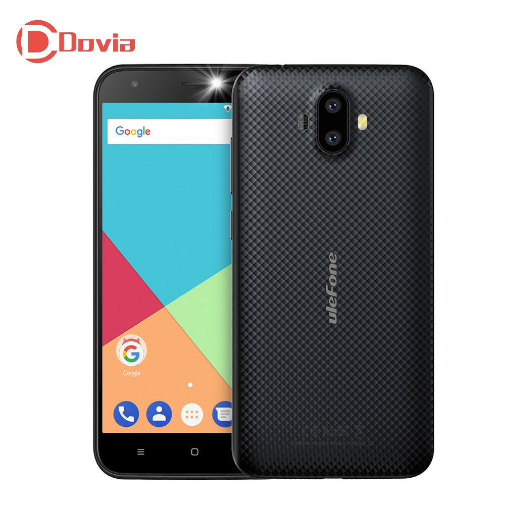Ulefone S7 3G Mobile Phone 2GB RAM 16GB ROM Android 7.0 5.0 inch MTK6580 Quad Core 13.0MP + 5.0MP Dual Rear Cameras Cellphone