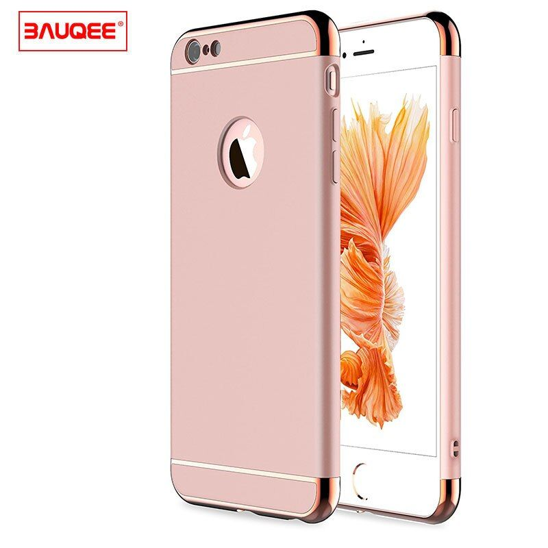 BAUQEE Mobile Phone Bag For iPhone 6 6s Case Plain Luxury Ultra Thin Shockproof Cover Case For iPhone 6 6s Plus
