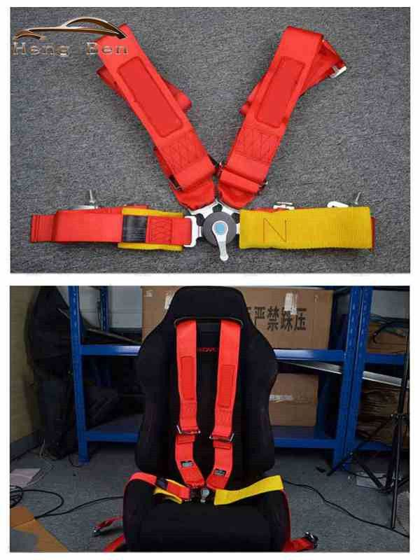 HB Seat Belts Style Competition 4 Point Snap-In 3