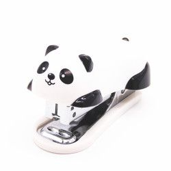 1pcs mini panda stapler cartoon office school supplies stationery paper clip Binding Binder book sewer