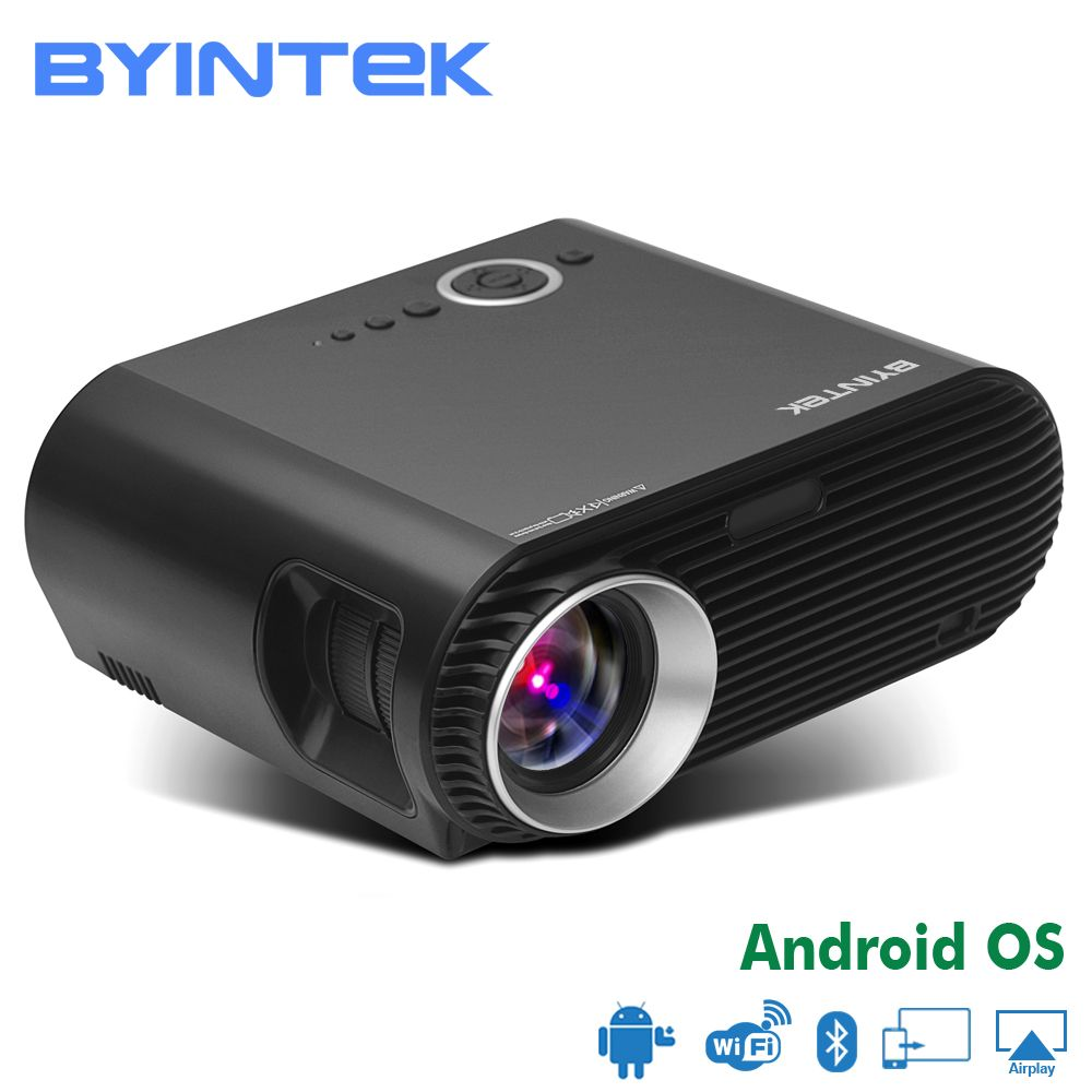 BYINTEK MOON BL127/GP90 Movie Cinema USB HDMI fulL hD LCD LED Video Projector For Gift Home Theater 1080P(Optional Android OS)