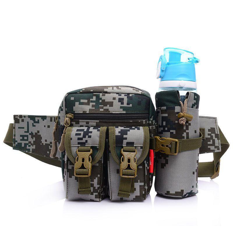 Battlefield Camouflage Toile Taille Packs Bandoulière Sac D'escalade En Plein Air Sac Voyage Bouteille Sac 8 Couleur Sac de Course