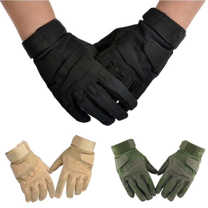 Plein doigt militaire travail gants Sports de plein air tactique Airsoft chasse équitation sécurité main gant eldiven guantes handschoenen