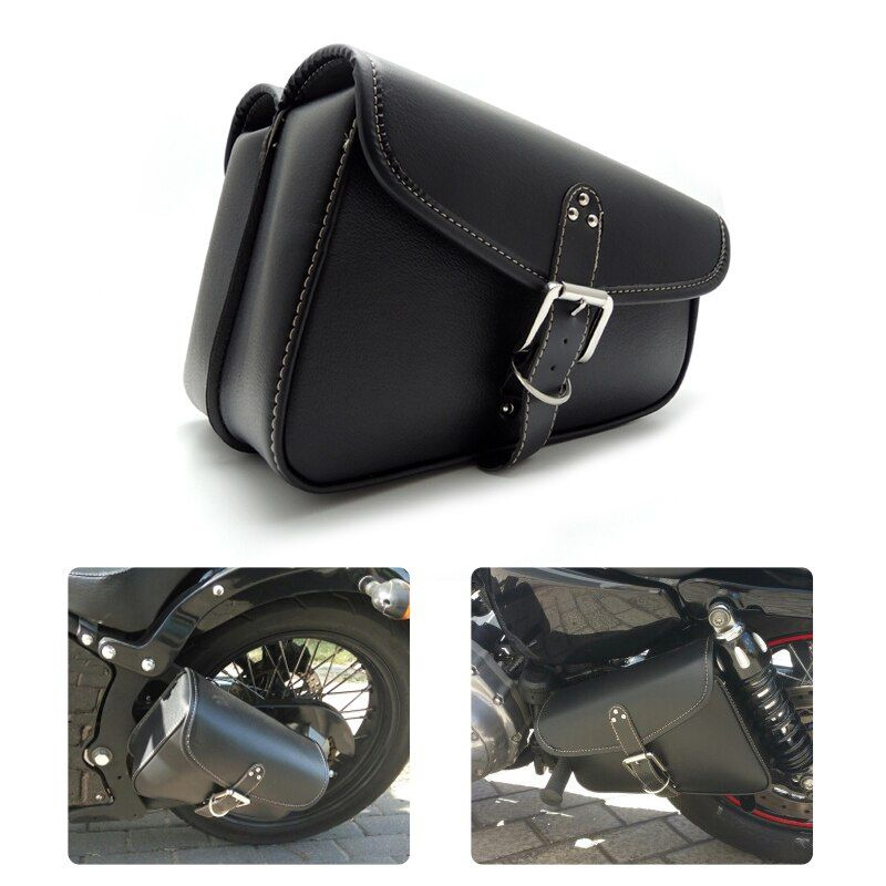 Motorbike Saddlebags PU Leather Swingarm Bag Saddle Bags Side Tool Bags Storage For Harley Sportster