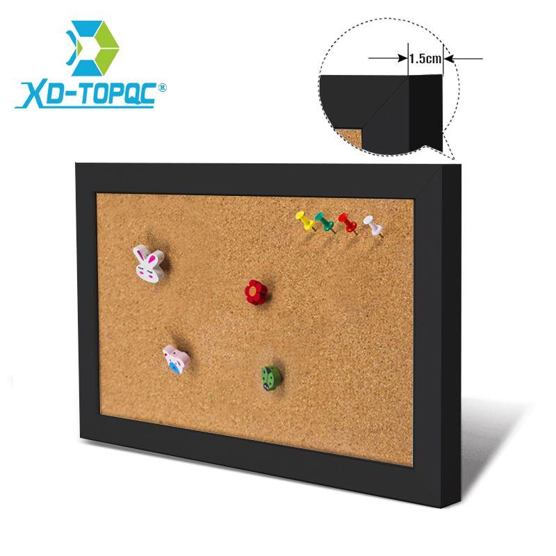 XINDI 5 couleurs tableau d'affichage MDF cadre liège tableau 25*35 cm Photos Pin mémo liège panneaux d'affichage pour les Notes maison livraison gratuite