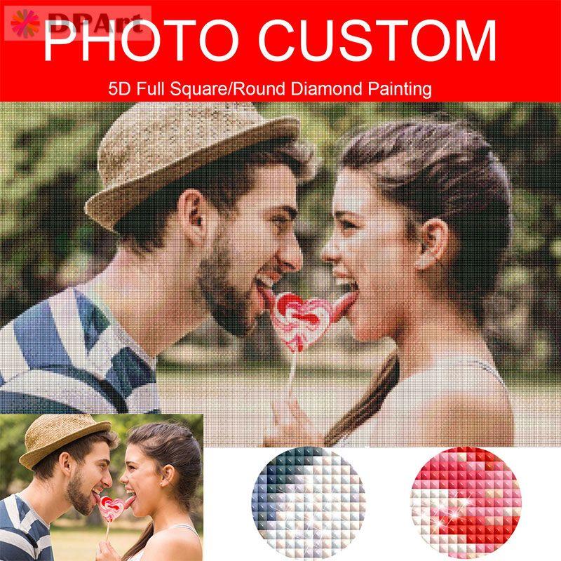 Diamond Painting Photo Custom Customization Private Custom 5D Full Square/Round Drill Pic Daimond Painting Cross Stitch H001
