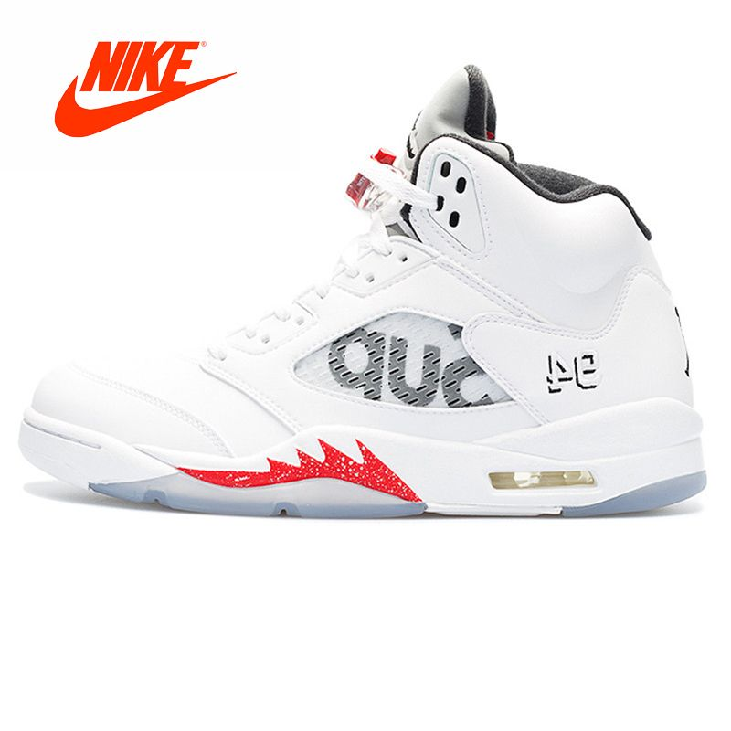 Original New Arrival Authentic Nike Air Jordan 5 Retro Supreme