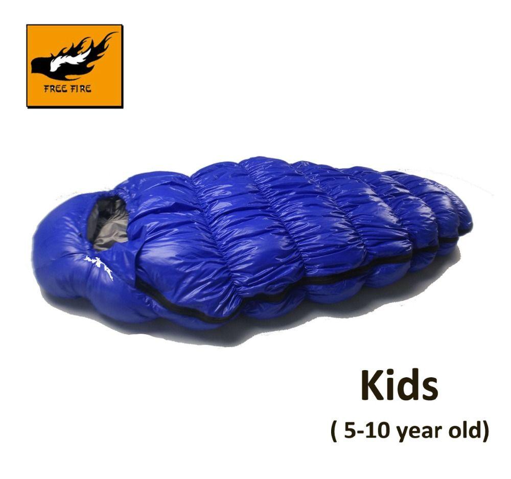 Kinder Schlafsack, Outdoor Camping Schlafsack Kind, Ente Unten Kinder Schlafsack Winter Kinder Geschenk Frei Feuer 120 cm, 140 cm