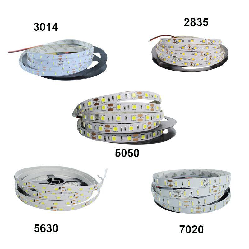DC12V 5 mt LED Streifen Band 3014/2835/5050/5630 Flexible LED Streifen Licht Nicht-Wasserdicht indoor Hause Dekoration Weiß/RGB Led-leuchten