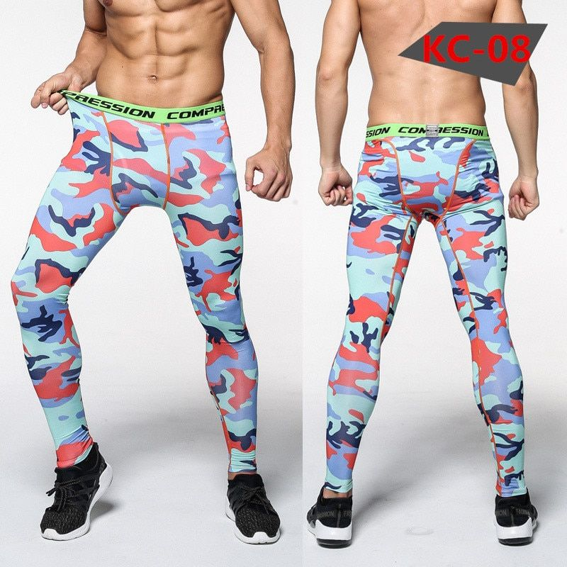 Mens compression tights Leggings Fitness Bodybuilding male trousers Sweatpants pants