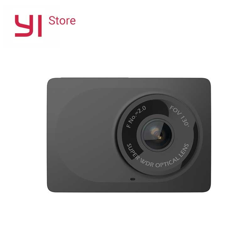 YI Compact Camera 1080p Full HD Car Cam Recorder Dash board with 2.7 inch LCD Screen 130 WDR Lens G-Sensor Night Vision Black