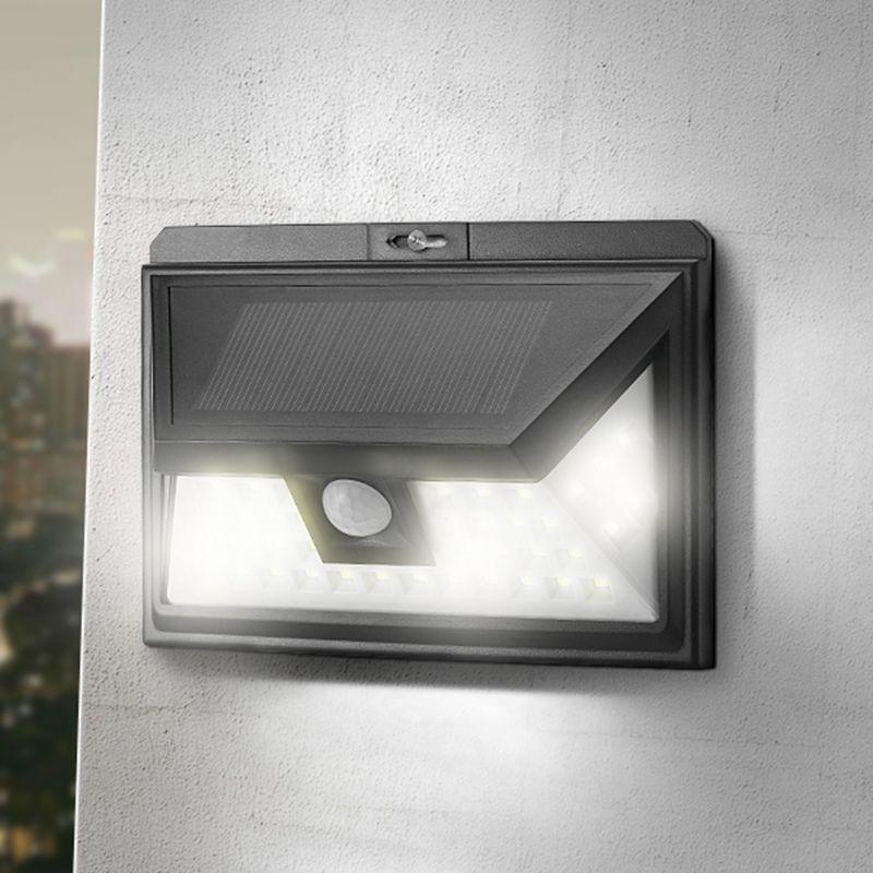 44 Солнечный свет на открытом воздухе Водонепроницаемый сад движения PIR Сенсор Солнечный Мощность светодиодный светильник настенный аварий...