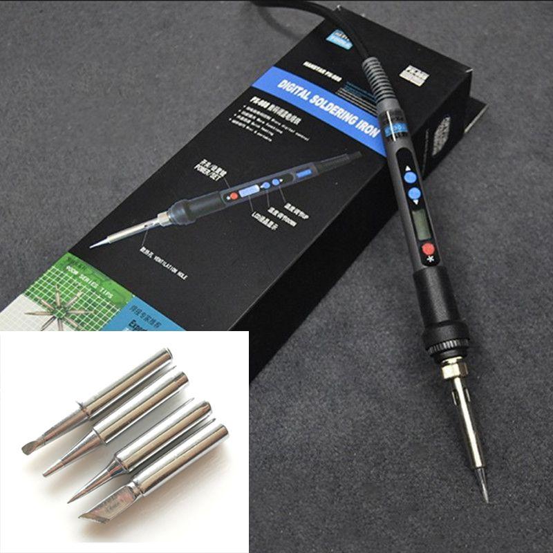 LCD Adjustable Electric Soldering Iron 90W 220V Ferro de Solda Soldering Station Kit Set Welding Repair Kit With Solder Tip