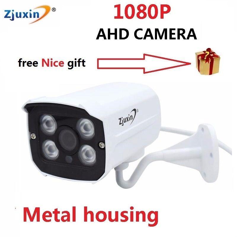 1 pc 1080 p ahd kamera CCTV Étanche extérieure 4 pcs LED array Nuit Vision AHD caméra peut utiliser 5 dans 1 1080N ou 1080 p ahd dvr
