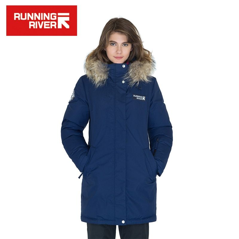 RUNNING RIVER Brand Women Mid-thigh Winter Hiking & Camping Down Jackets 10Colors 5 Sizes Hooded Outdoor Sports Coat #D6161